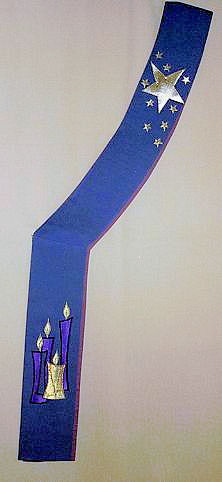 Advent candles and stars