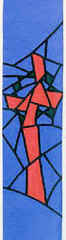 'Broken' Cross with Crown of Thorns