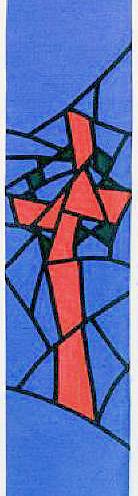 'Broken' Cross with Crown of Thorns