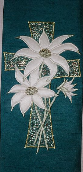 Australian Flannel Flowers on Cross