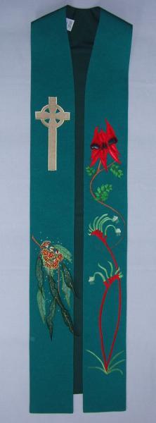 Three Panel Stole - Australian Wildflowers