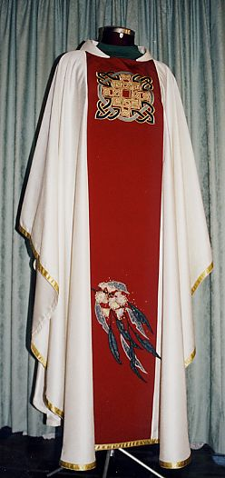 Chasuble with Celtic image and Eucalypt Blossom