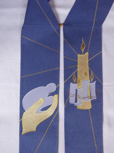 Advent or Lent Deacon Stole