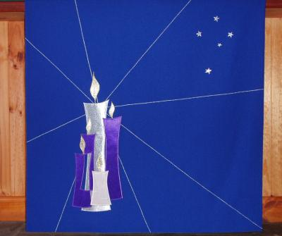 Altar Frontal - Candles and Stars